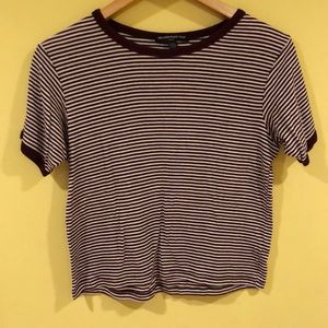 Brandy Melville red and white striped short sleeve